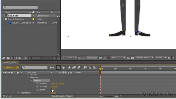 Creating overlap pins: Creating Animated Characters in After Effects