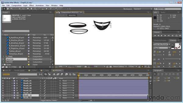 Mouth replacement: Creating Animated Characters in After Effects