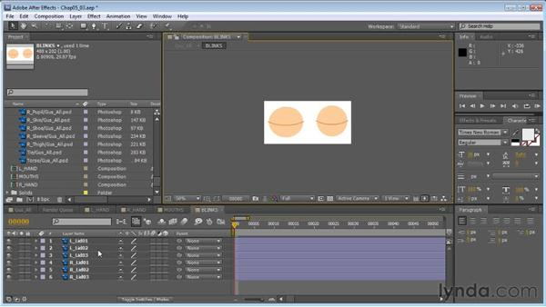 Creating blinks: Creating Animated Characters in After Effects