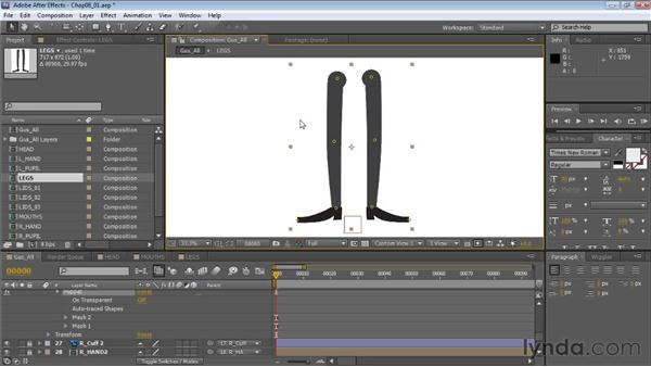 Setting up null objects as bones: Creating Animated Characters in After Effects