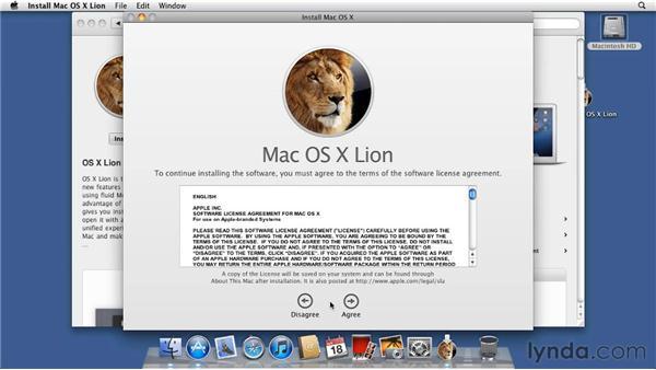 Installing Lion: Mac OS X Lion Essential Training
