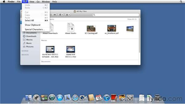 Touring the Finder: Mac OS X Lion Essential Training