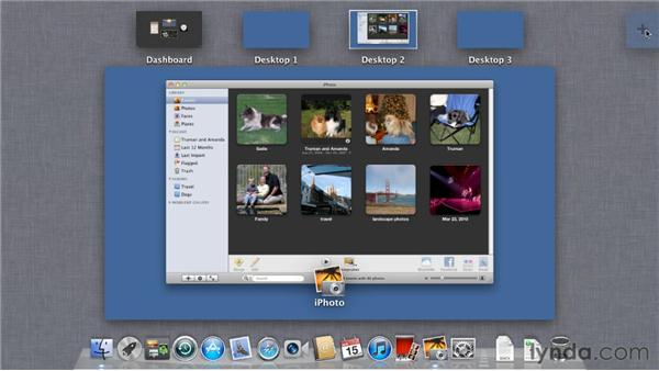 Organizing workspaces with Mission Control: Mac OS X Lion Essential Training