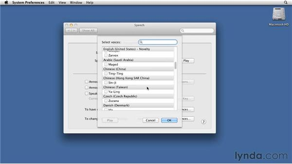 Using Text to Speech: Mac OS X Lion Essential Training
