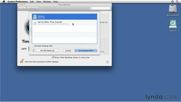 Backing up with Time Machine: Mac OS X Lion Essential Training