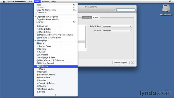Configuring basic Audio and Video preferences: Mac OS X Lion Essential Training