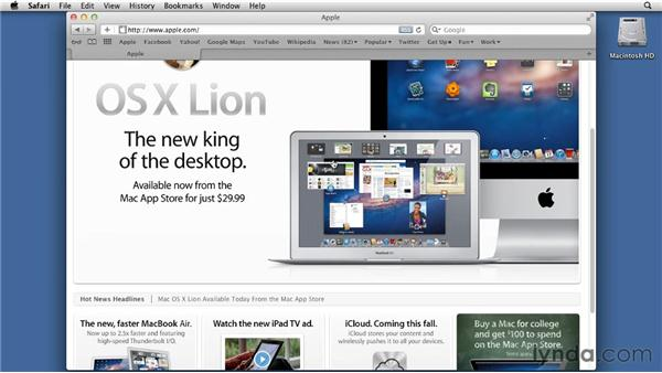Using Reading List: Mac OS X Lion Essential Training