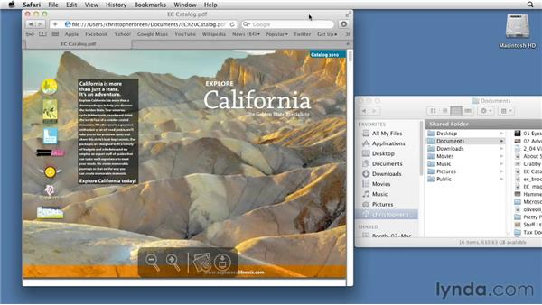 Opening local files in Safari: Mac OS X Lion Essential Training