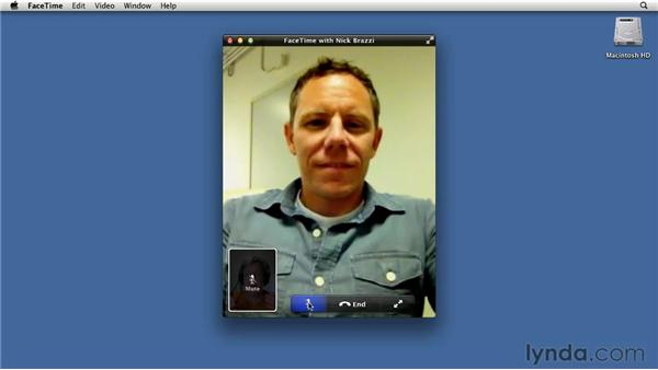 Video chatting in FaceTime: Mac OS X Lion Essential Training