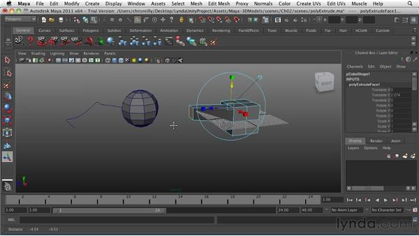 Extruding geometry: Game Character Creation in Maya