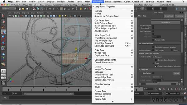 Creating the mouth: Game Character Creation in Maya