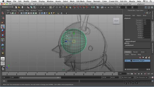 Crafting the eyes: Game Character Creation in Maya