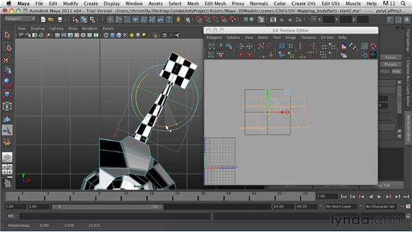 UV mapping the body parts: Game Character Creation in Maya