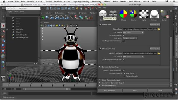 Normal mapping: Game Character Creation in Maya