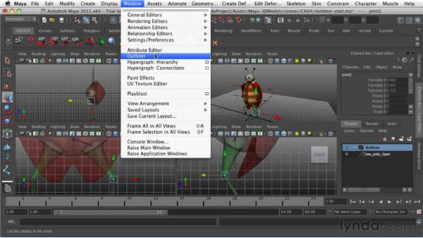 Setting up the skeleton: Game Character Creation in Maya