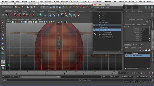 Building the spine: Game Character Creation in Maya