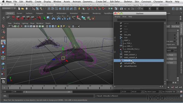 Rigging the legs and feet: Game Character Creation in Maya
