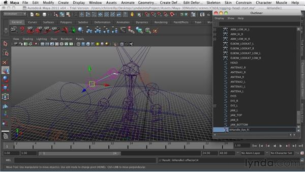 Rigging the face and head: Game Character Creation in Maya