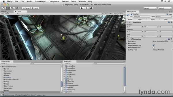 Exploring the Unity interface: Game Character Creation in Maya