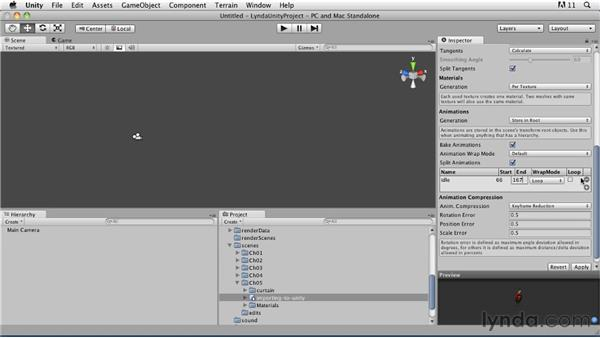 Importing character and animations into Unity