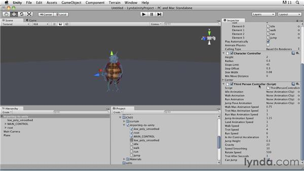 Controlling animations with scripts: Third-person character controller: Game Character Creation in Maya