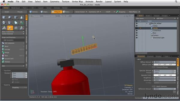 Adding detail with edges: MODO 501 Essential Training