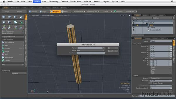 Adding detail to models: MODO 501 Essential Training
