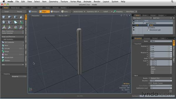 Deforming and shaping objects: MODO 501 Essential Training