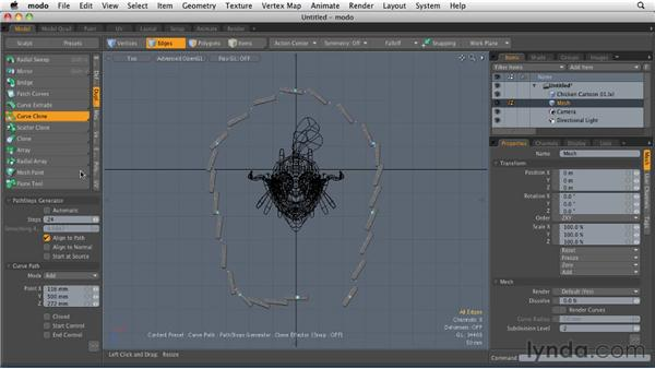 Working with Curve Clone: MODO 501 Essential Training