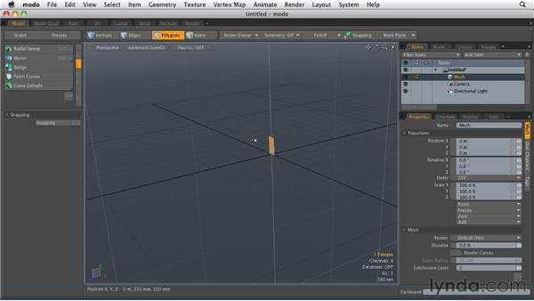 Working with Curve Extrude: MODO 501 Essential Training