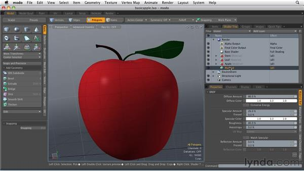 Creating surfaces for polygons: MODO 501 Essential Training