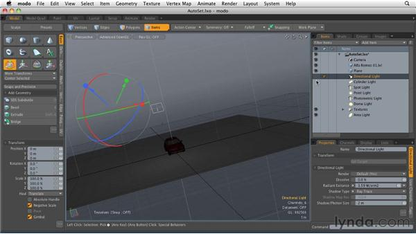 Working with different light types: MODO 501 Essential Training