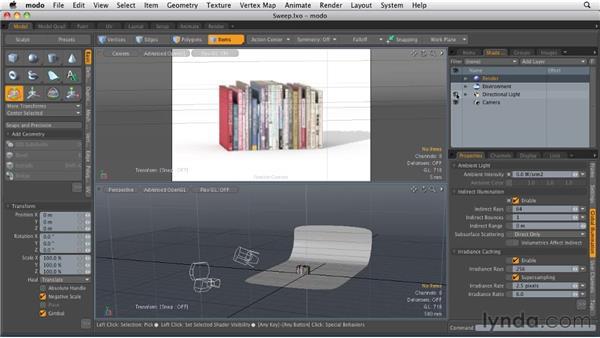 Lighting a 3D scene: MODO 501 Essential Training