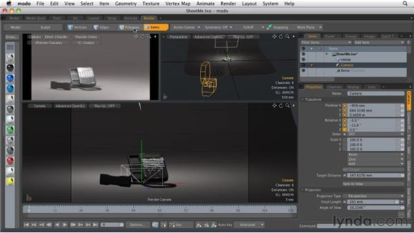 Setting up a camera: MODO 501 Essential Training