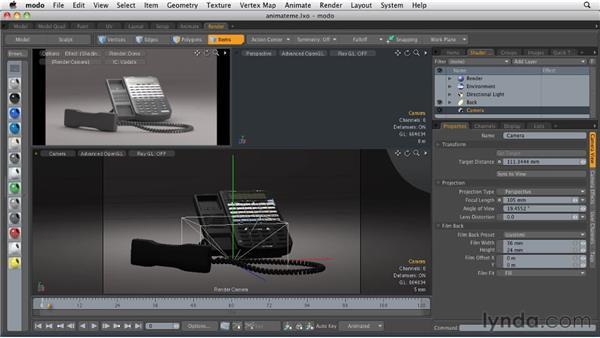 Animating cameras: MODO 501 Essential Training
