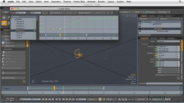 Fine-tuning keyframes in the Graph Editor: MODO 501 Essential Training