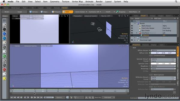 Animating colors: MODO 501 Essential Training