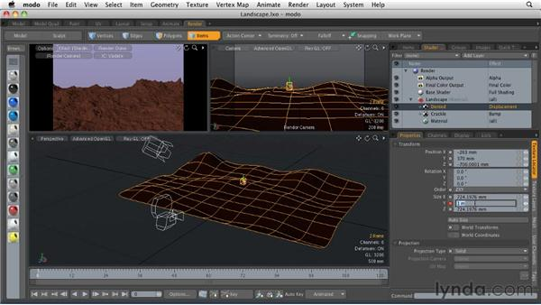 Animating displacement maps: MODO 501 Essential Training
