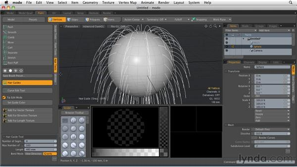 Working with Hair Guides: MODO 501 Essential Training