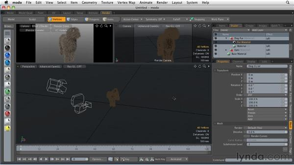 Generating animal hair: MODO 501 Essential Training