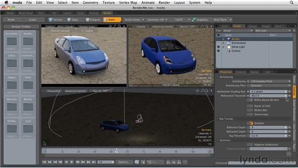 Setting up a render project: MODO 501 Essential Training