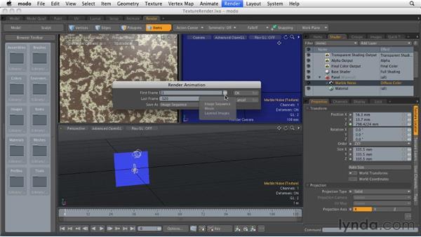 Rendering to movie files vs. image sequences: MODO 501 Essential Training
