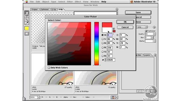 matting a jpeg: Learning Illustrator 10