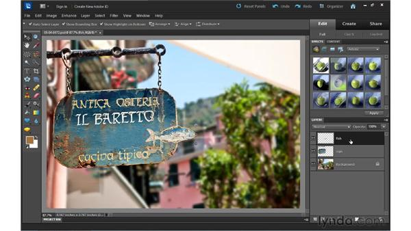 Understanding layers: Up and Running with Photoshop Elements 10