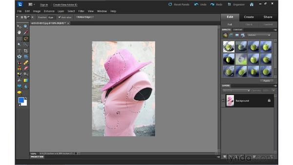 Understanding selections: Up and Running with Photoshop Elements 10