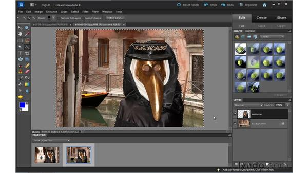 Combining images: Up and Running with Photoshop Elements 10
