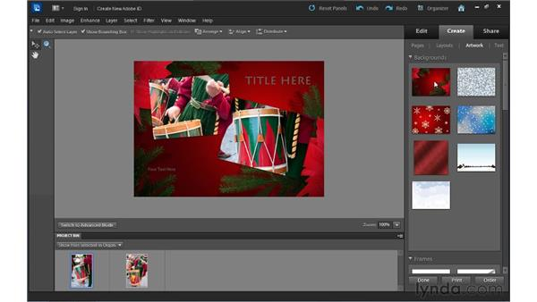Creating a greeting card: Up and Running with Photoshop Elements 10