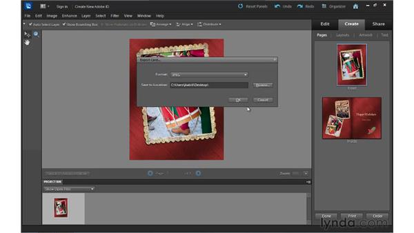 Outputting a photo creation: Up and Running with Photoshop Elements 10