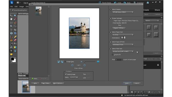 Printing photos: Up and Running with Photoshop Elements 10