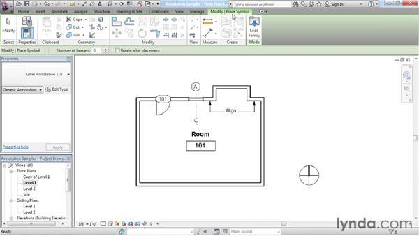 Kinds of annotation families: Revit Architecture: The Family Editor